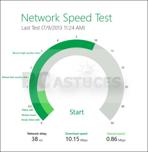 Astuce: Tester la vitesse de sa connexion internet (Windows 8) 3846-710