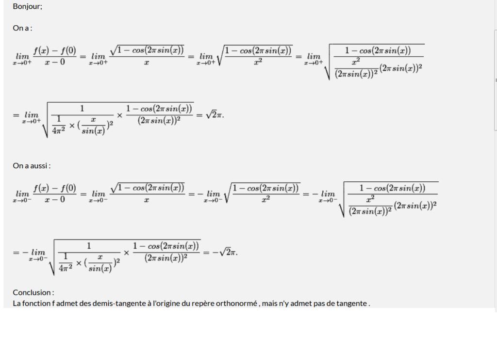 Une fonction et une tangente Sans_t25