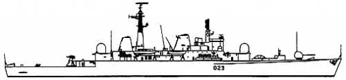 DESTROYERS LANCE-MISSILES CLASSE SHEFFIELD (TYPE 42) (NV) Hms_br11