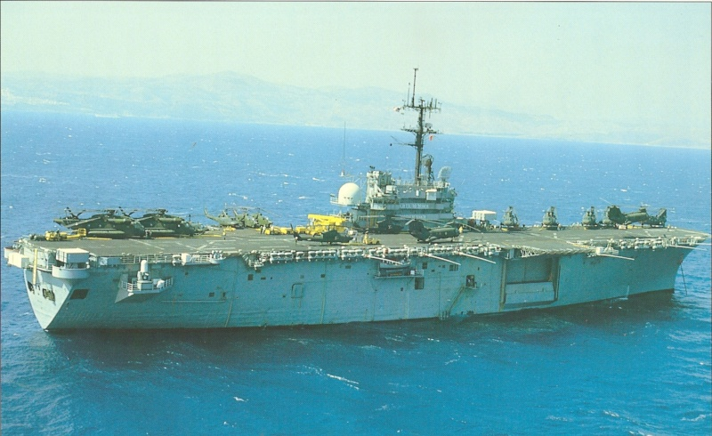 LANDING HELICOPTER ASSAULT CLASSE (LHA) TARAWA (TERMINE) Uss_gu11