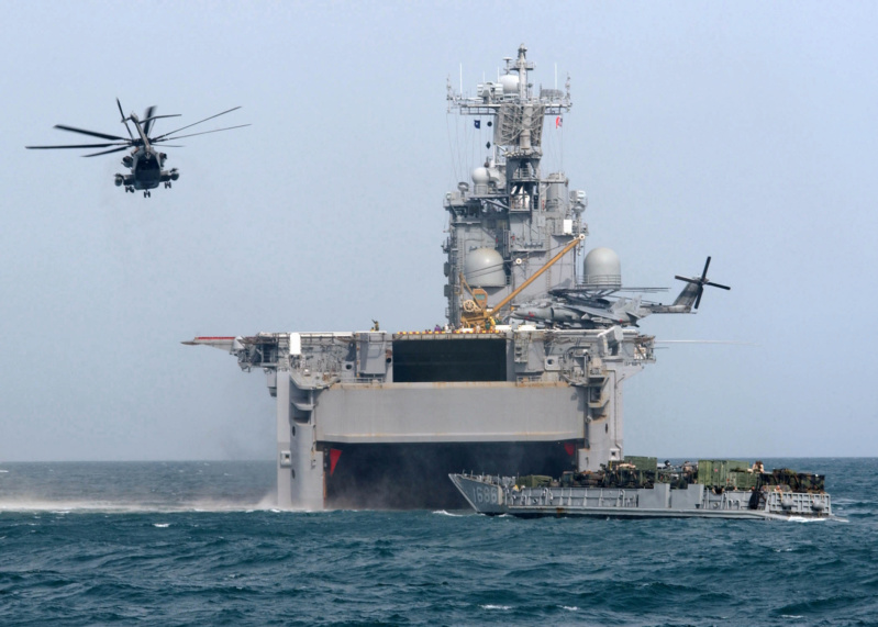 LANDING HELICOPTER ASSAULT CLASSE (LHA) TARAWA (TERMINE) Uss_ta44