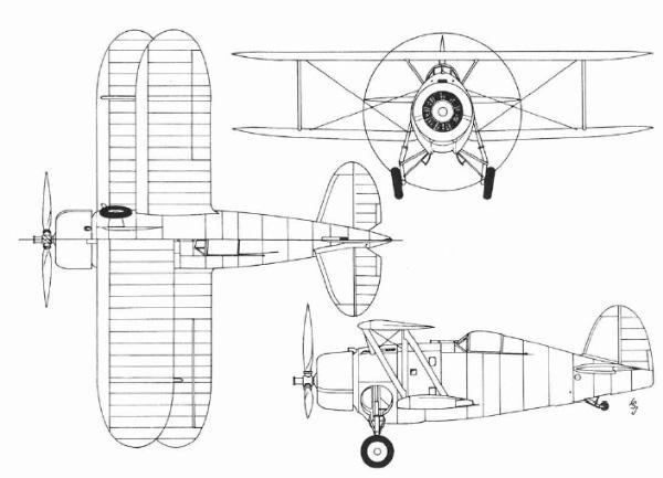 BREWSTER F2A BUFFALO (Terminé) Xf4f-110