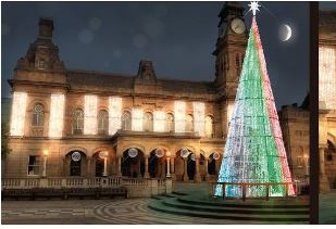 Christmas lights switch on Tree10
