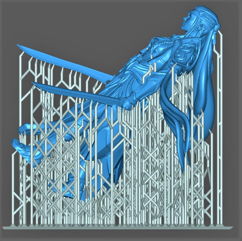 Impression 3D Résine - Figurine de Nain Elfe-010
