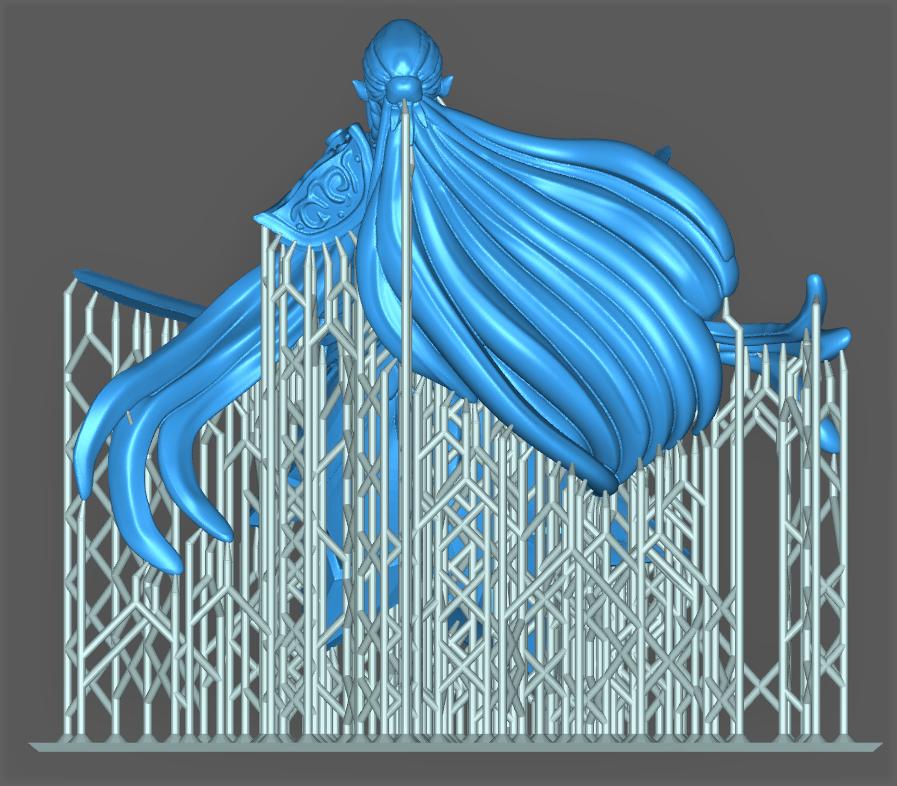 Impression 3D Résine - Figurine de Nain Elfe-011