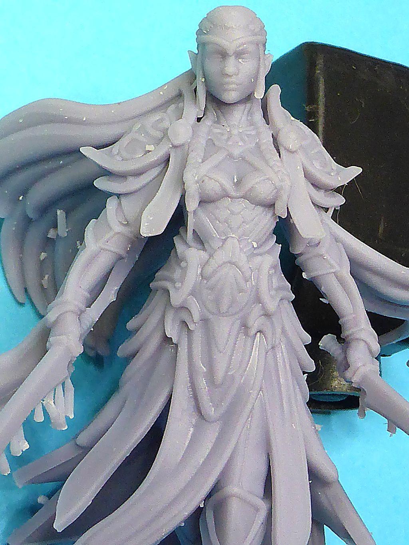 Impression 3D Résine - Figurine de Nain Elfe-014