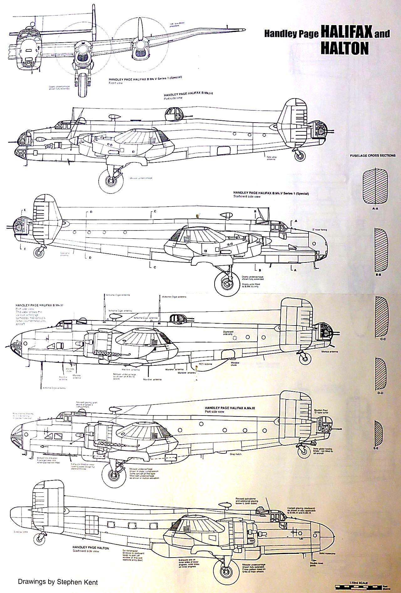 Fil rouge 2021 * Handley Page HALIFAX B III - Airfix 1/72 Hali-013