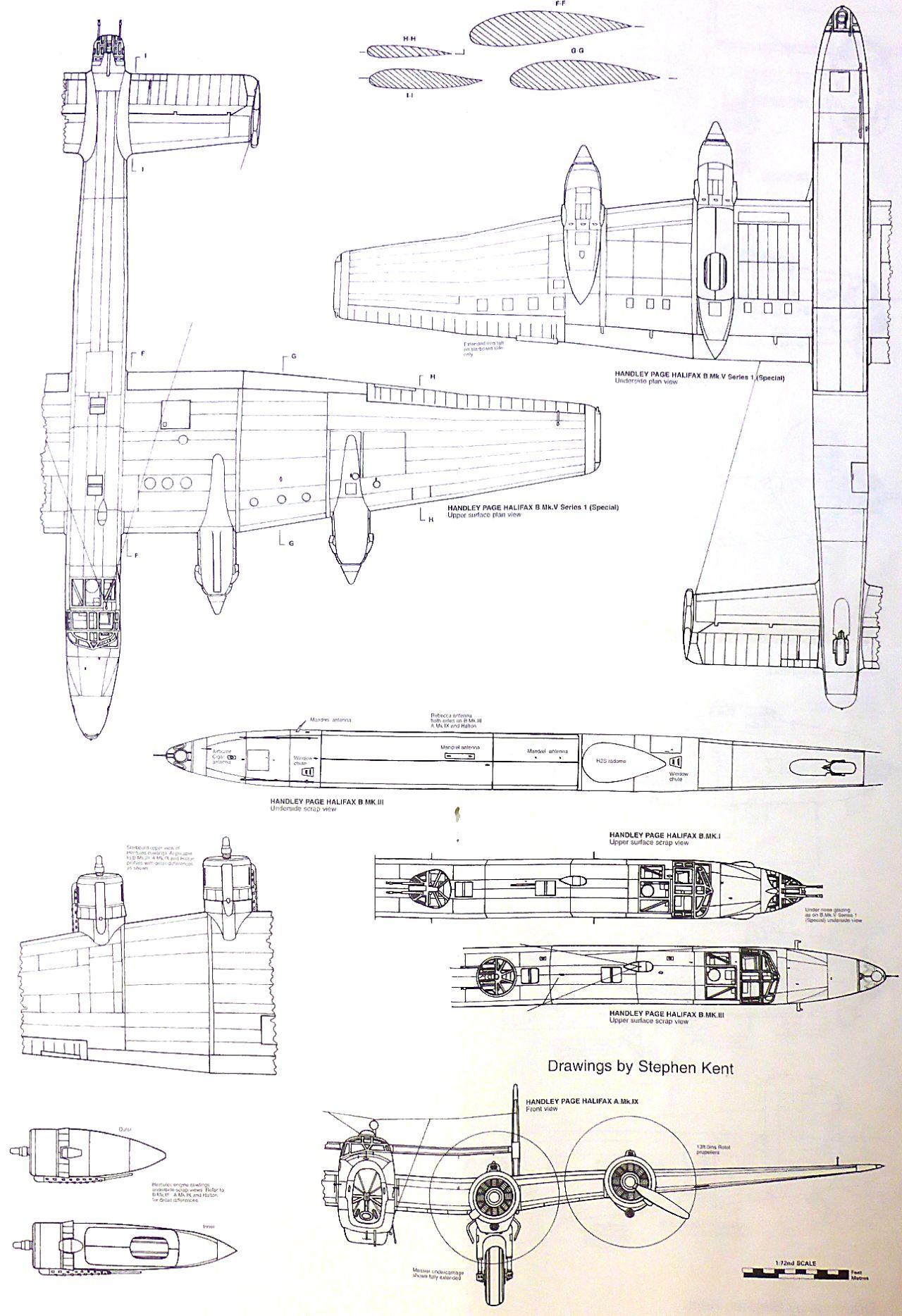 Fil rouge 2021 * Handley Page HALIFAX B III - Airfix 1/72 Hali-014