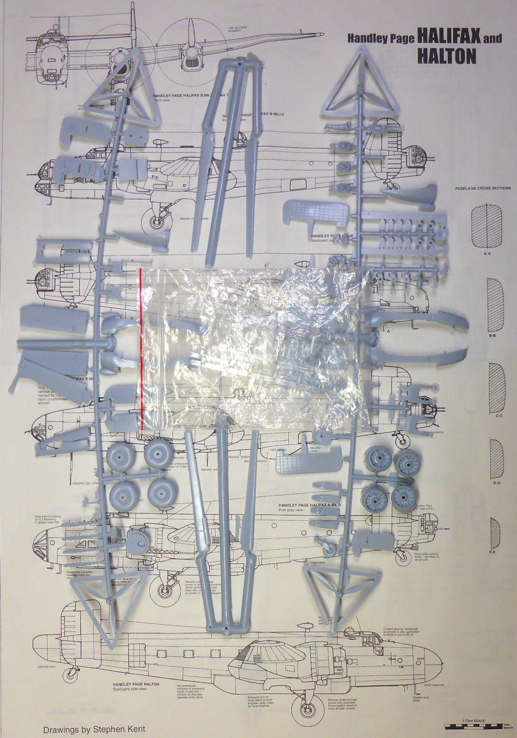 Fil rouge 2021 * Handley Page HALIFAX B III - Airfix 1/72 Hali-016