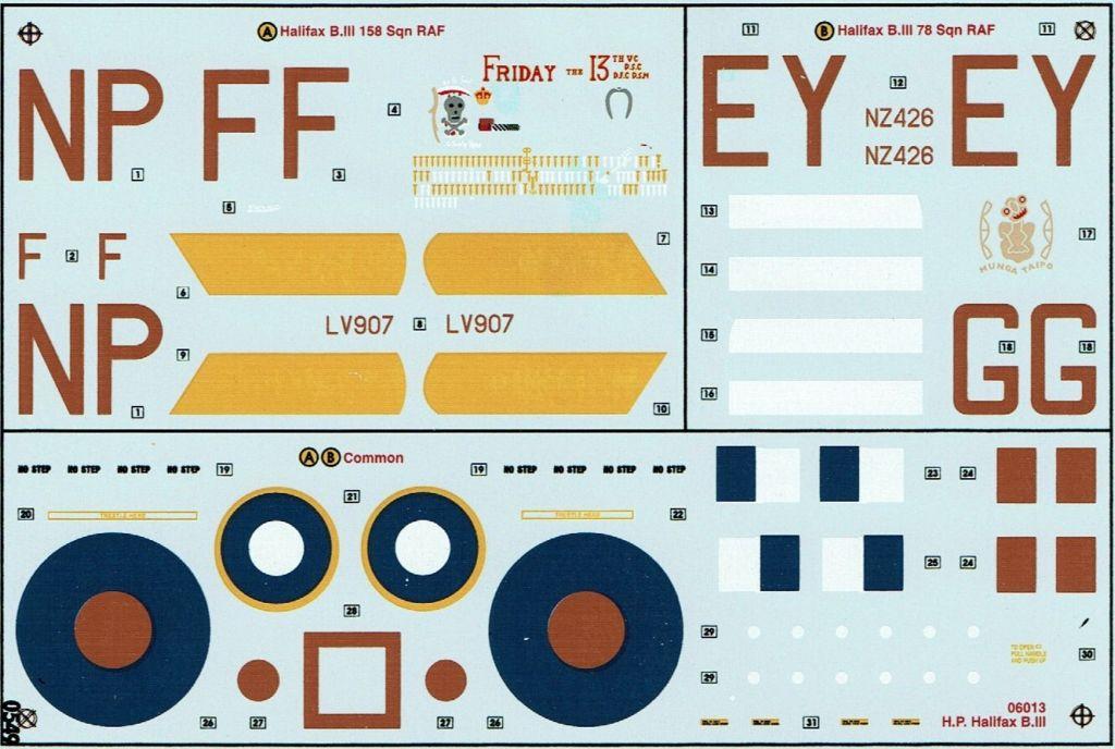 Fil rouge 2021 * Handley Page HALIFAX B III - Airfix 1/72 Hali-017