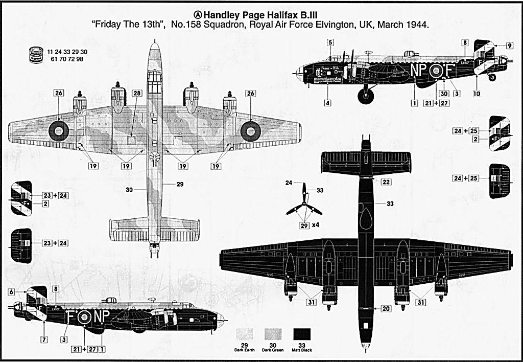 Fil rouge 2021 * Handley Page HALIFAX B III - Airfix 1/72 Hali-112