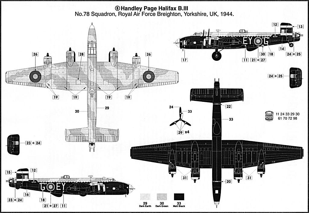 Fil rouge 2021 * Handley Page HALIFAX B III - Airfix 1/72 Hali-113