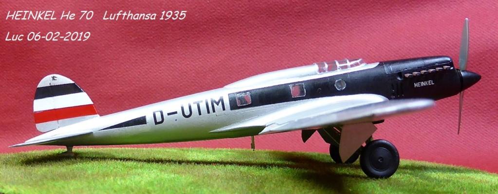 [Revell] - Heinkel He 70F-2 décor Lufthansa 1935 He70-423