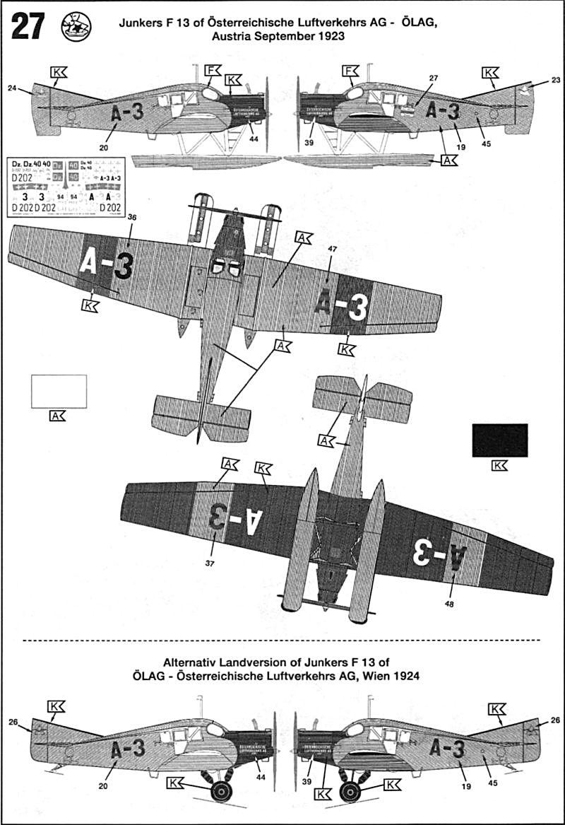 Fil rouge 2019 : Junkers F.13 - (Revell 1/72) *** Terminé en pg 4 Juf13-16