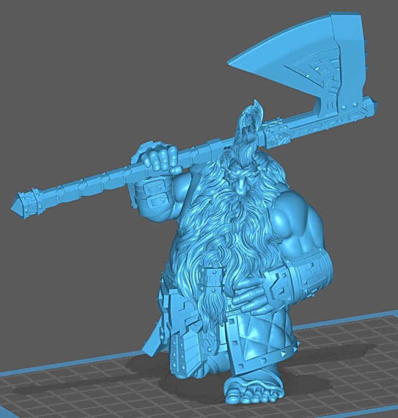 Impression 3D Résine - Figurine de Nain Nain-010
