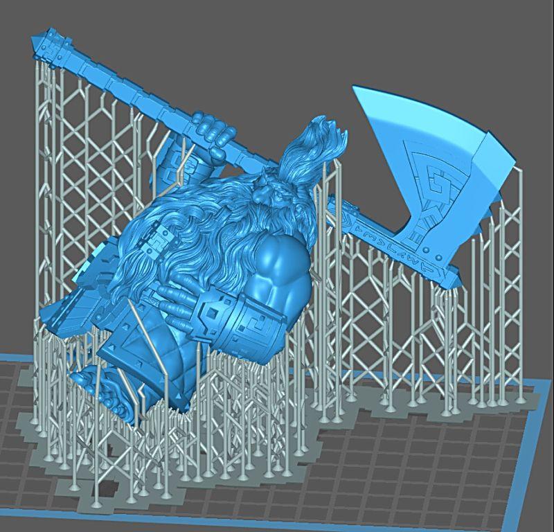 Impression 3D Résine - Figurine de Nain Nain-011