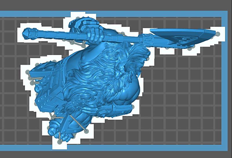 Impression 3D Résine - Figurine de Nain Nain-012