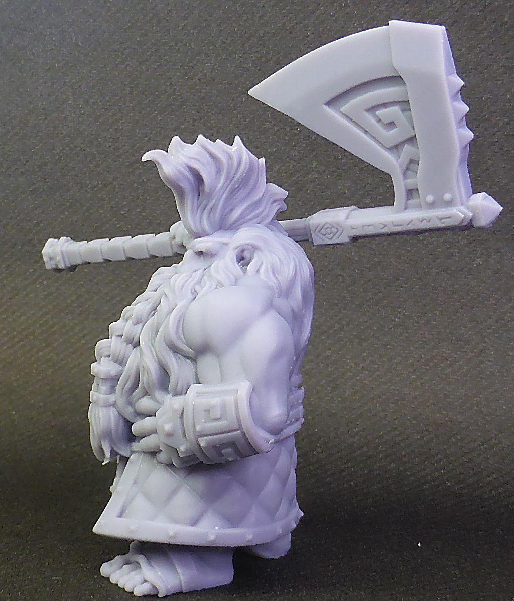 Impression 3D Résine - Figurine de Nain Nain-014