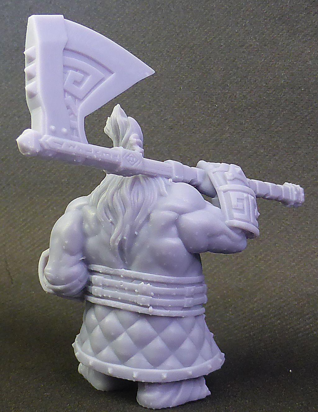 Impression 3D Résine - Figurine de Nain Nain-015
