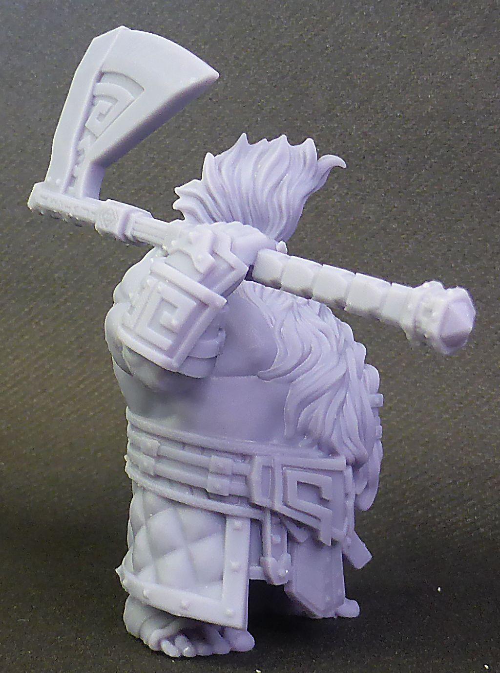 Impression 3D Résine - Figurine de Nain Nain-016