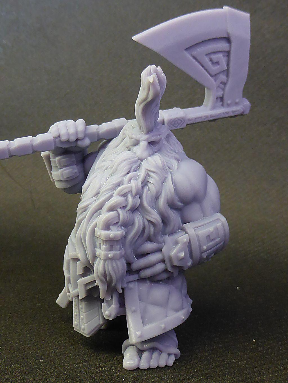 Impression 3D Résine - Figurine de Nain Nain-018