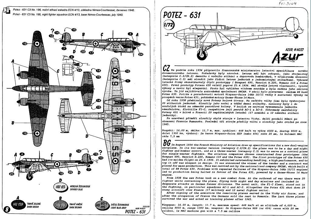 Fil rouge 2020 : [AZUR] Potez 637-A3 Pot63712
