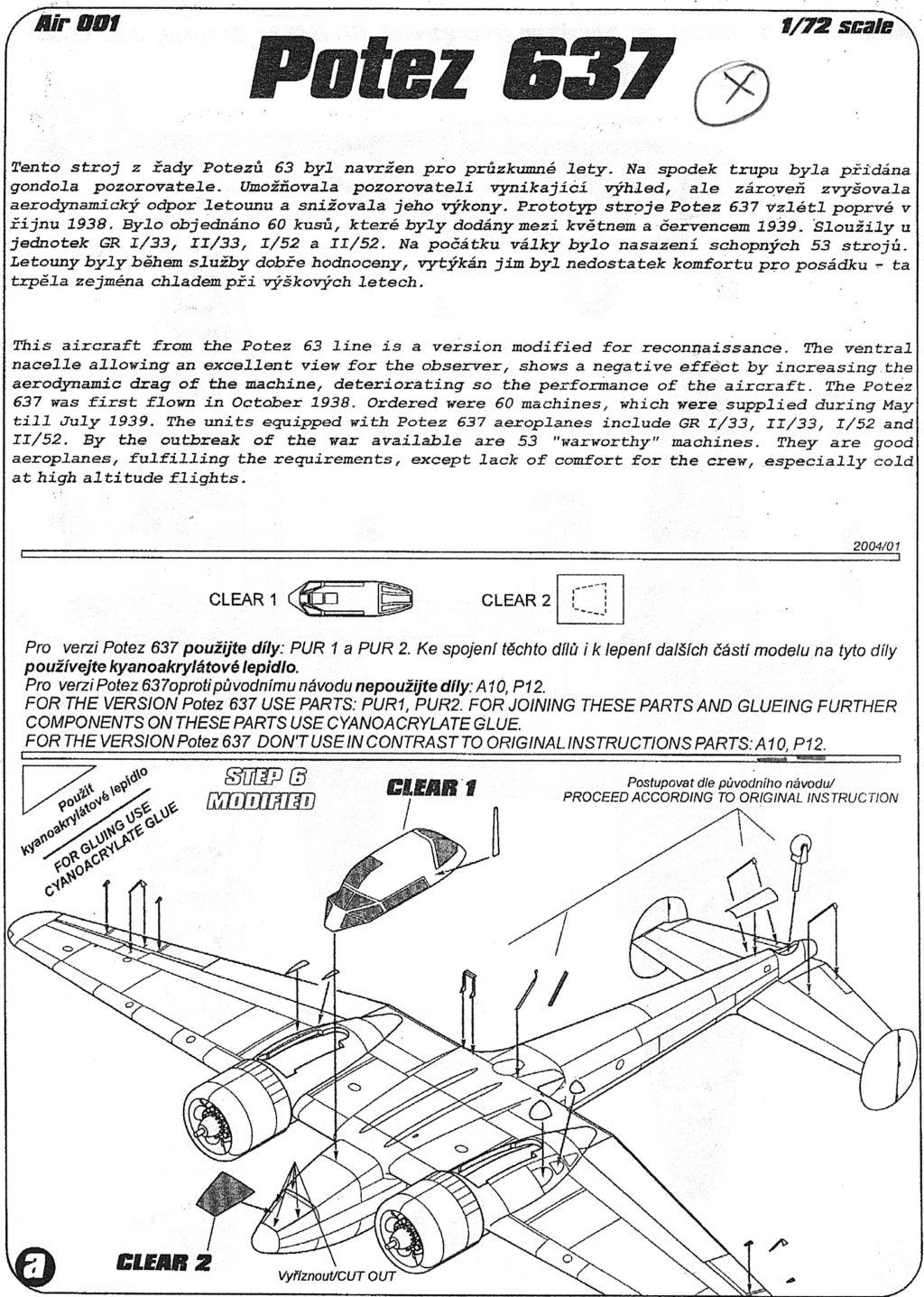 Fil rouge 2020 : [AZUR] Potez 637-A3 Pot63716