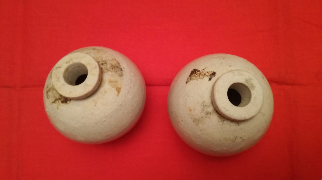 Les grenades en céramique, origine et utilisation. Img_2086
