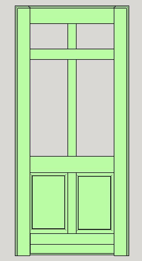 Porte d'entrée vitrée avec  grand cadre - Page 5 Assemb15