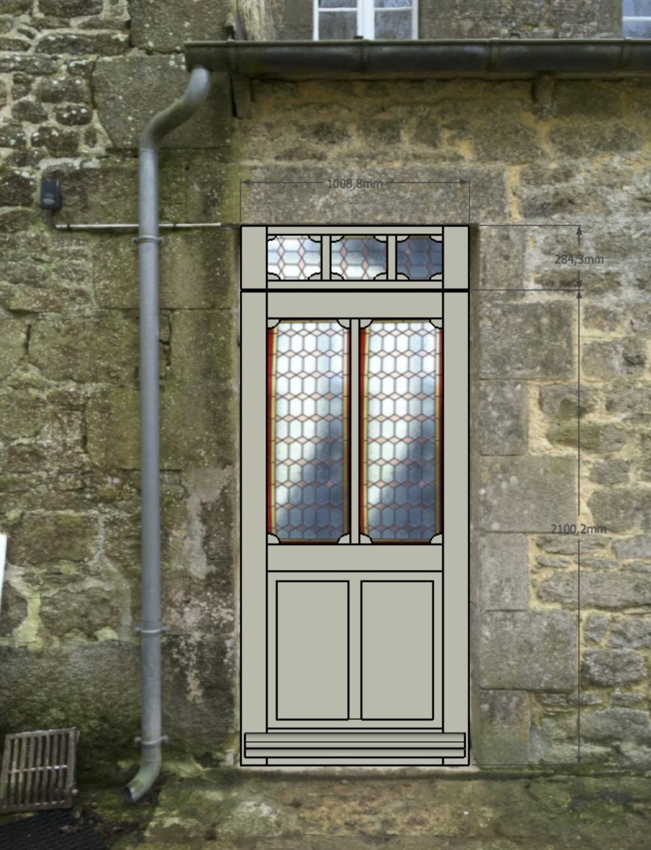 porte vitrée grand cadre - Porte d'entrée vitrée avec  grand cadre Projet10