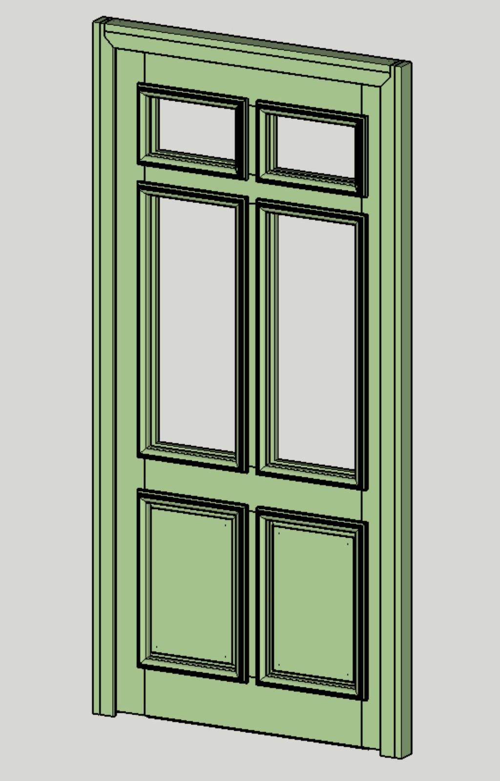 porte vitrée grand cadre - Porte d'entrée vitrée avec  grand cadre Vue_is10