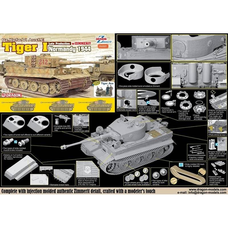 Tigre I Late Production w/Zimmerit Dragon 1/35ième Pzkpfw10