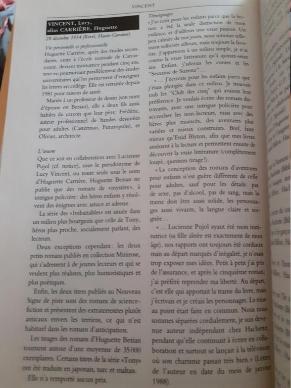 """Huguette Bézian est Huguette carrière l'auteur de """"Tony"""" - Page 5 20200414"""