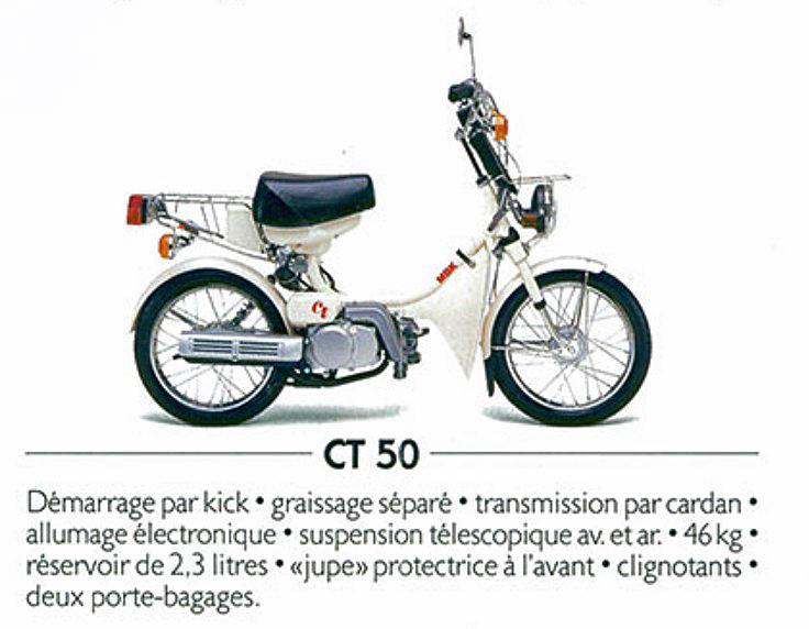 cyclo MBK CT50 3DL moteur yamaha  15420110
