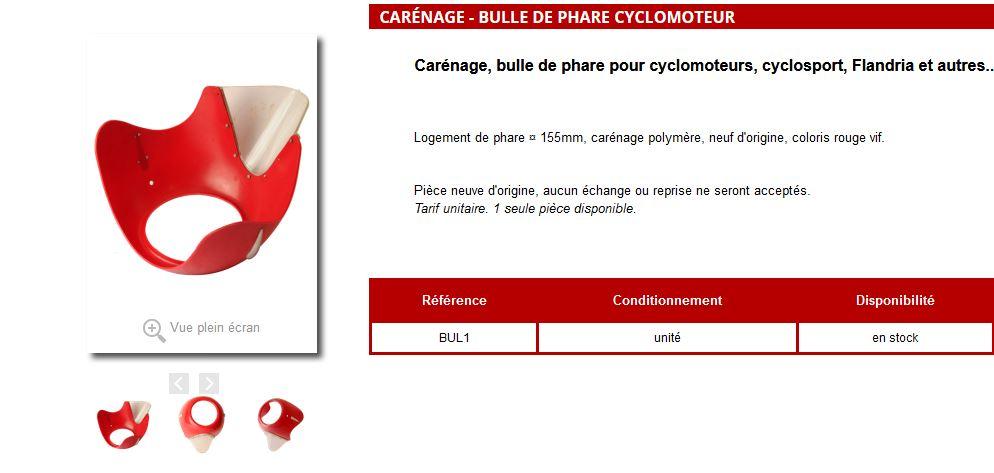 Carénage - Bulle de phare Cyclomoteur Flandria Bulle_11