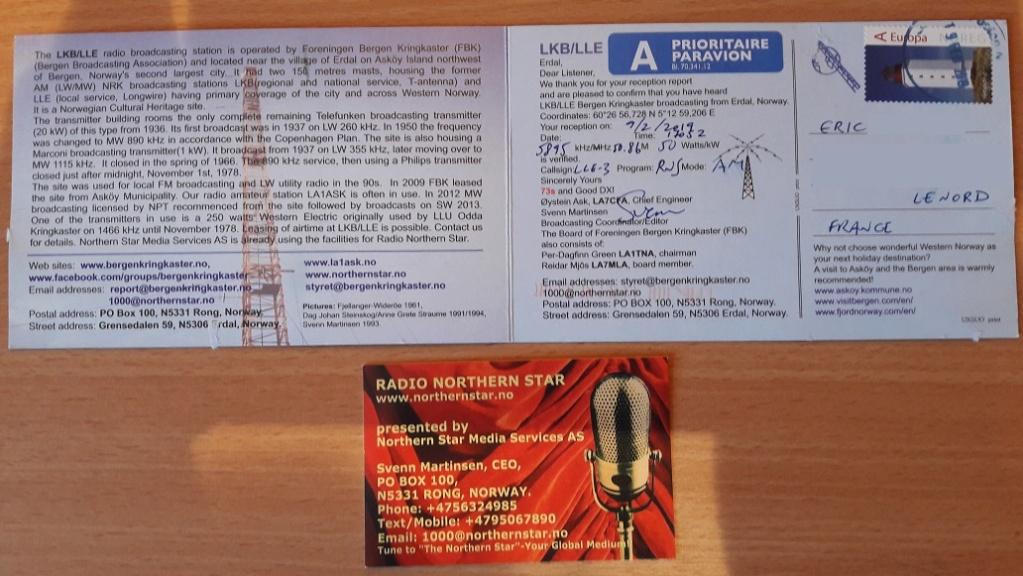qsl de LKB LLE - Norvège 20190215