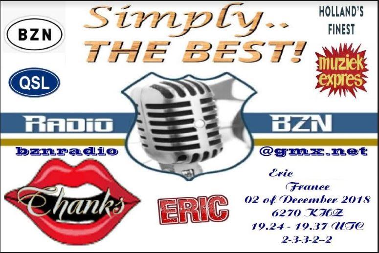 eQSL de radio BZN Bzn10