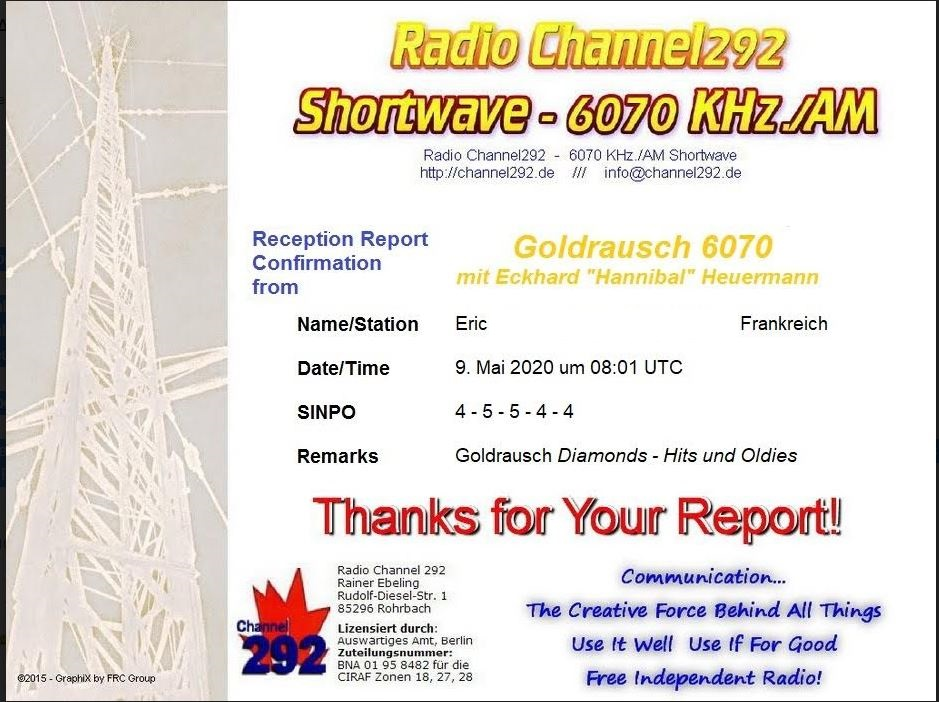 eQSL de radio goldrausch Diamonds Captur36