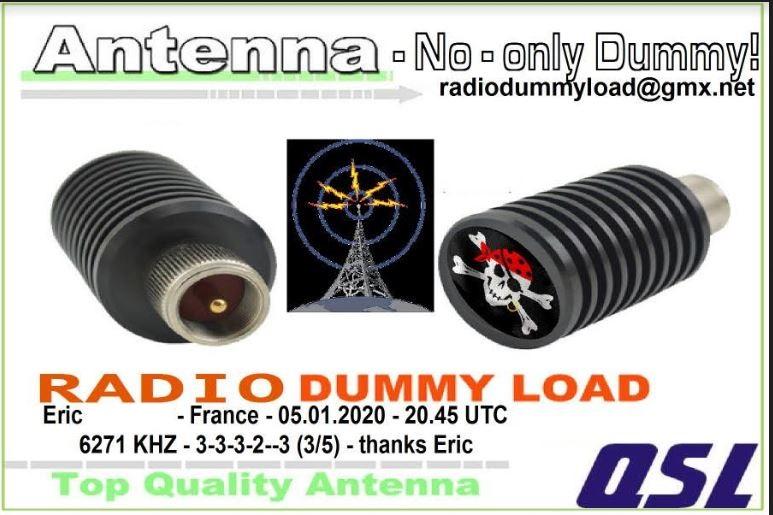 eQSL de dummy load radio Dummyl10