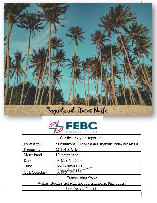 eQSL de FEBC phillipines Febc110