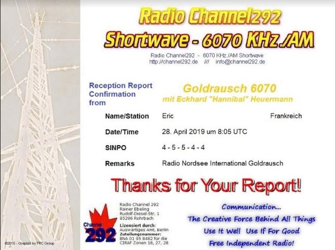 eQSL de radio  goldrausch Goldr10