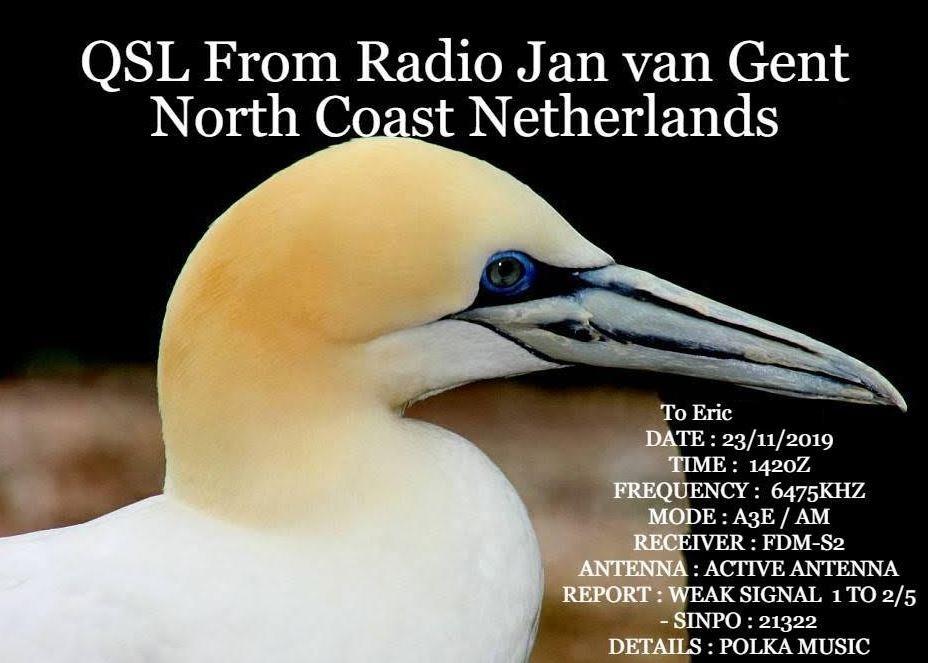 eQSL de radio JAN VAN GENT Jvg10