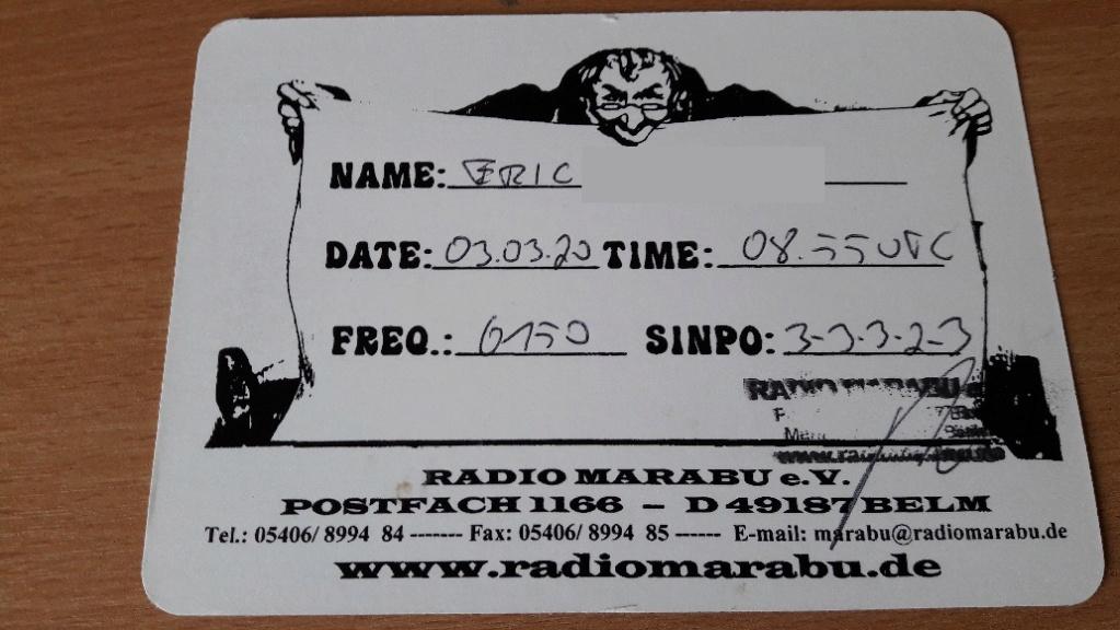QSL de radio Marabu Marabu14