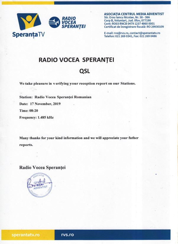 eQSL de radio voice sperantei Radio_14