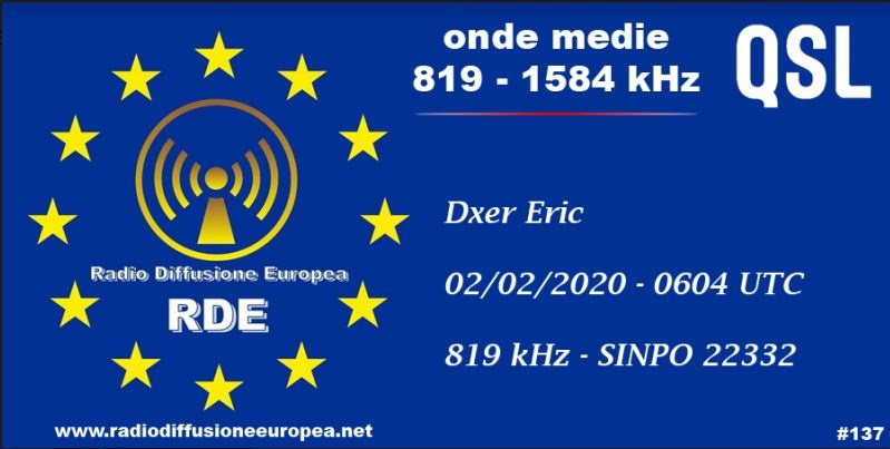 eQSL de RDE Rde10