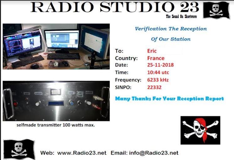 eQSL de studio 23 Studio10