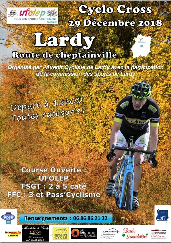 Samedi 29 décembre Cyclo-cross de Lardy Affich12