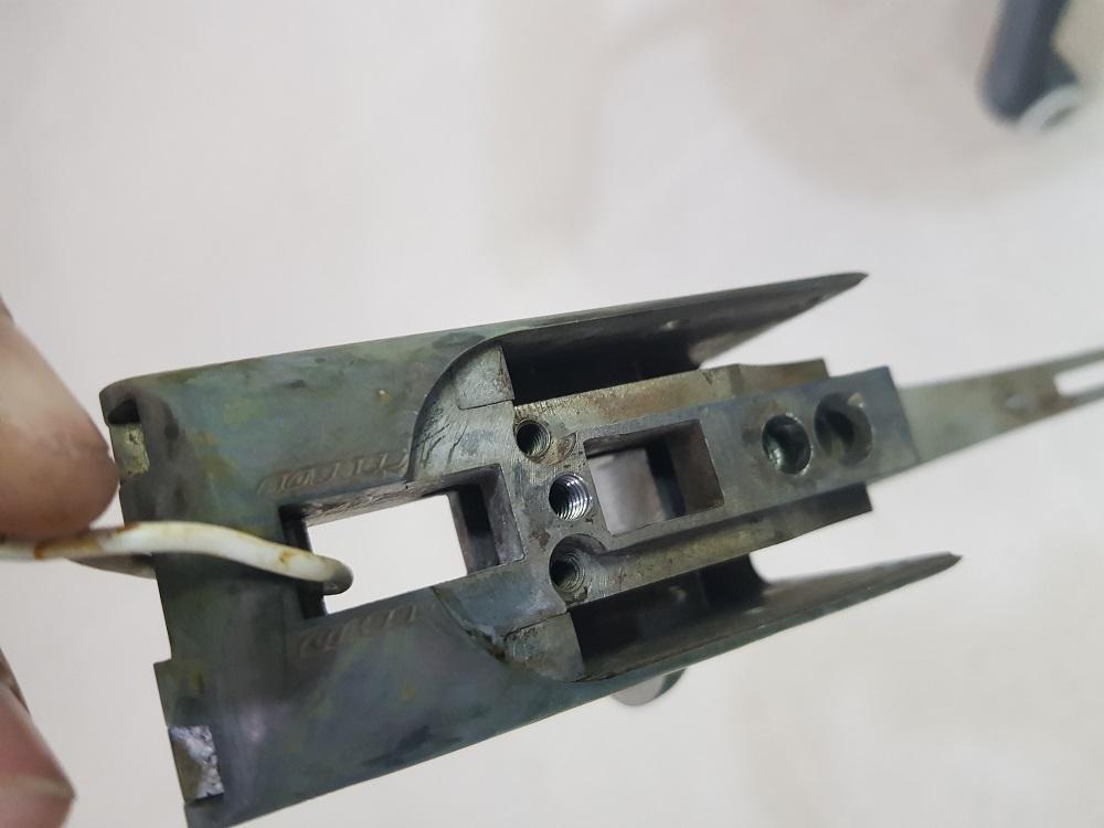 Bronzage d'une bascule de fusil HELICE 00810