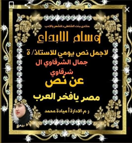 أنا شاعر جماهيري و ليس شاعر النقاد \ أغنية \ مصر يا فخر العرب \ للشاعر \ جمال الشرقاوي \ 10715310