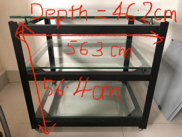 Custom-made Double Isolation Hifi Rack with glass  Rack_110